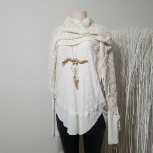 NEW! NWT! FREE PEOPLE THERMAL KNIT TOP!